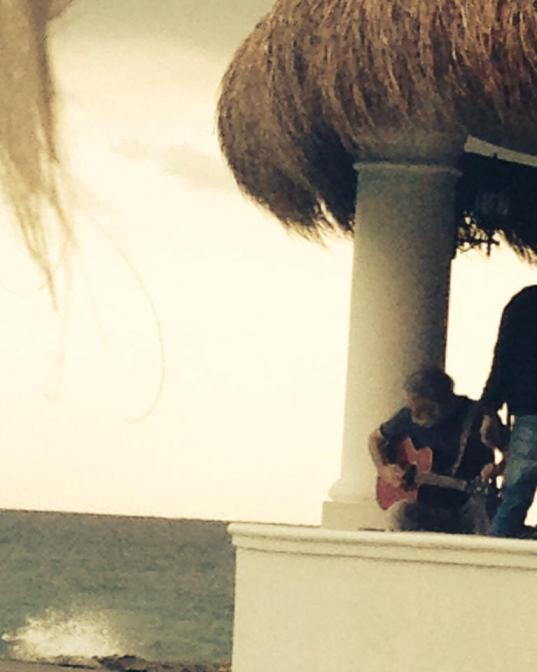 Bob Weir solo at the beach in Mexico, photo by Dawn Murray