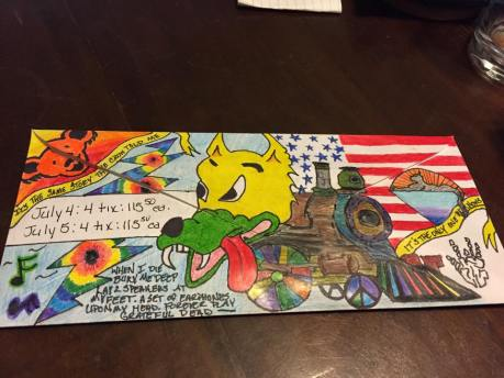 Deadhead Envelope art for Dead50 Mail Order (21)