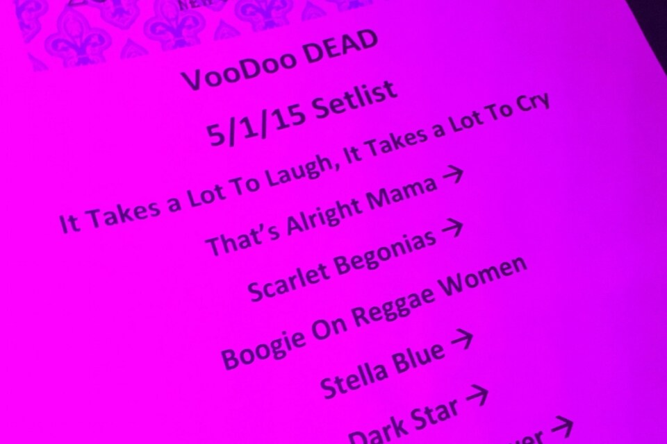 SETLIST: Bill Kreutzmann's Voodoo Dead May 1 2015 Republic New Orleans Louisiana