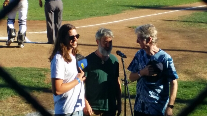 VIDEO Phil Lesh sings National Anthem, San Rafael Pacifics Baseball Club, August 29, 2015