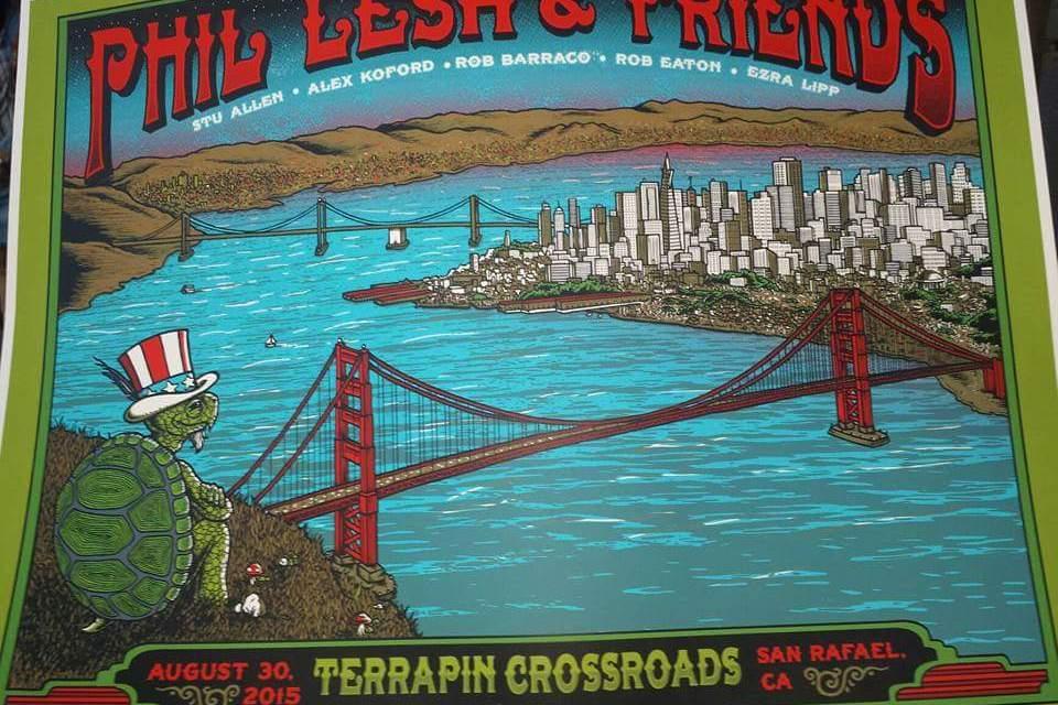 """SETLIST: Phil Lesh & Friends Recreate """"Grateful Dead 9-12-81"""" Sun. Aug 30, 2015 The Grate Room Terrapin Crossroads San Rafael, CA"""