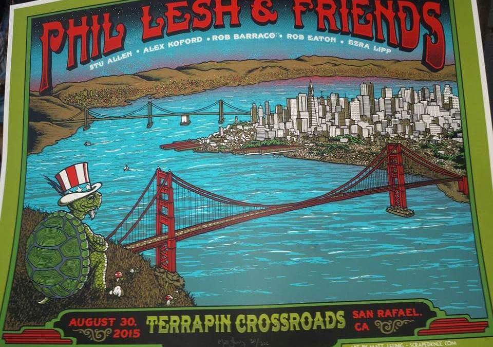 "SETLIST: Phil Lesh & Friends Recreate ""Grateful Dead 9-12-81"" Sun. Aug 30, 2015 The Grate Room Terrapin Crossroads San Rafael, CA"