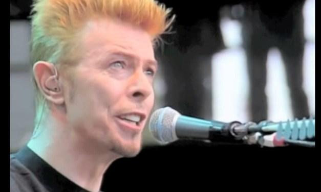"""VIDEO: David Bowie, Live Acoustic """"Heroes"""" Bridge School Benefit, Shoreline Amphitheatre"""