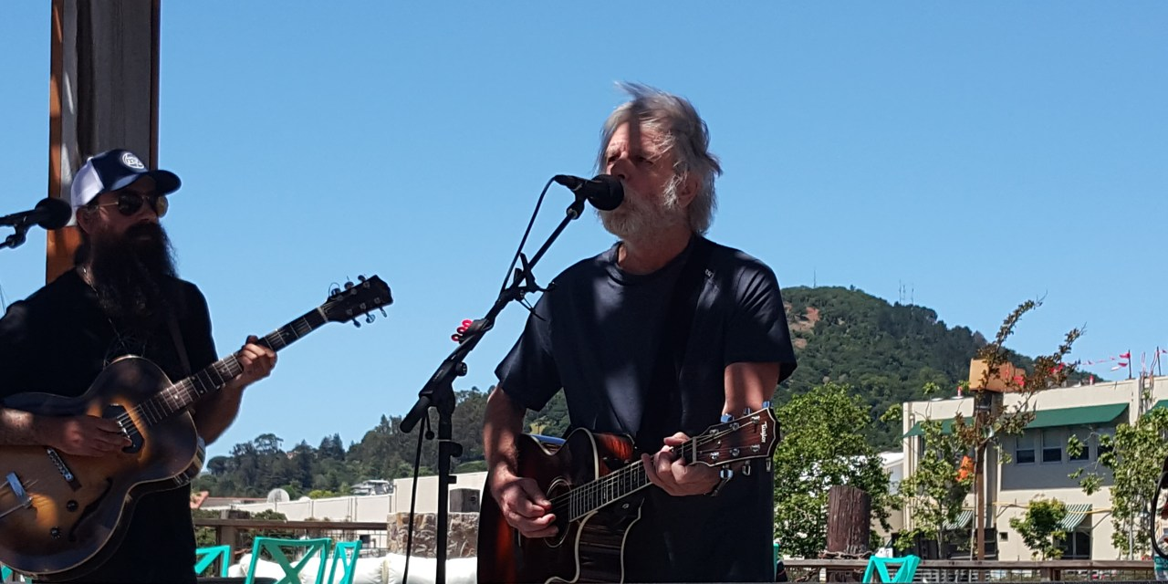 """VIDEO: """"Masterpiece > Monkey and the Engineer"""" Bob Weir w Phil Lesh and Ross James in the Terrapin Backyard"""