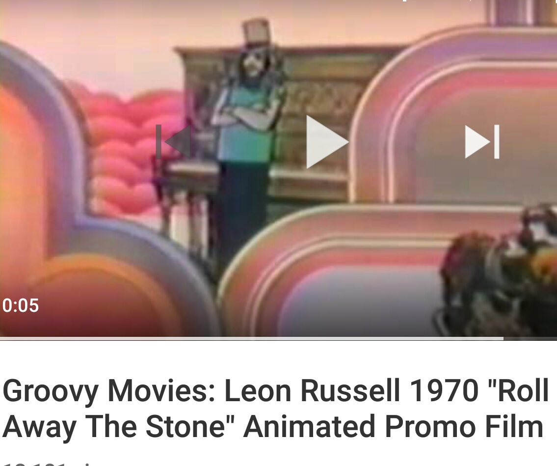 "Groovy Movies: Leon Russell 1970 ""Roll Away The Stone"" Animated Promo Film"