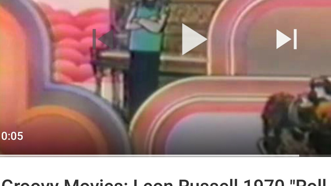 """Groovy Movies: Leon Russell 1970 """"Roll Away The Stone"""" Animated Promo Film"""
