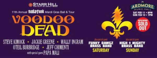 LIVE STREAM: Voodoo Dead – 2.11.2017 Ardmore Music Hall