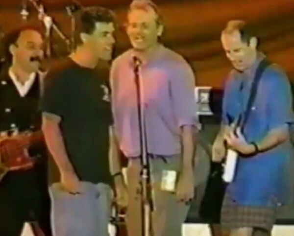 """SNL's Bill Murray sings backup for Grateful Dead's Bob Weir """"One More Saturday Night"""" Live, Bobby and The Valentines in Japan 8-27-1994"""