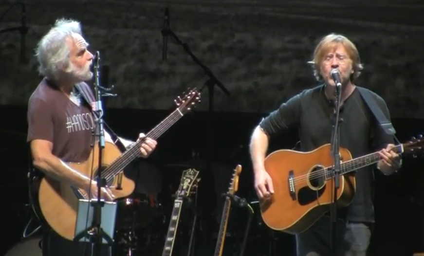 SETLIST & Video Trey Anastasio acoustic sit in w Bob Weir on Lady Gaga cover and more at Wanee Festival 4-22-2017