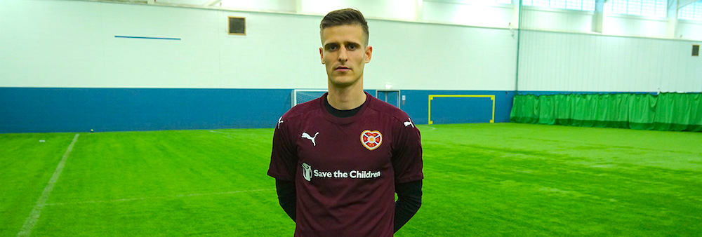 New Hearts defender Andraz Struna hoping to face Scotland at Hampden
