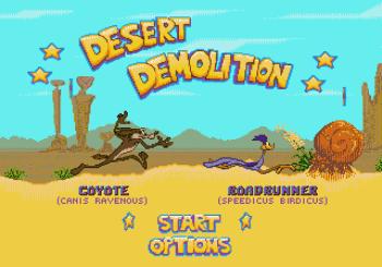 Desert Demolition Starring Road Runner and Wile E Coyote (Genesis) - 01