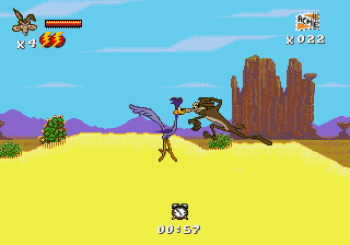 Desert Demolition Starring Road Runner and Wile E Coyote (Genesis) - 04