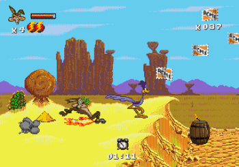 Desert Demolition Starring Road Runner and Wile E Coyote (Genesis) - 07
