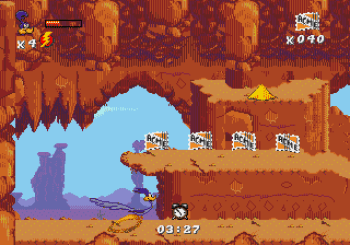 Desert Demolition Starring Road Runner and Wile E Coyote (Genesis) - 30