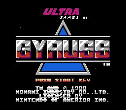 Gyruss (NES) - 01