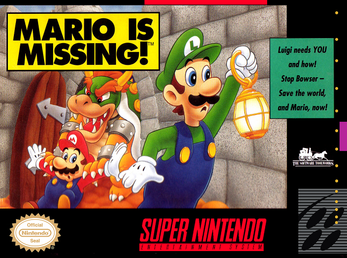 Mario Is Missing! Front Cover