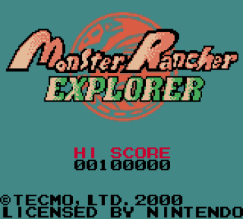Monster Rancher Explorer (Gameboy Color) - 01