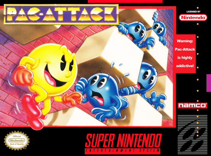 Pac-Attack (SNES) - Cover