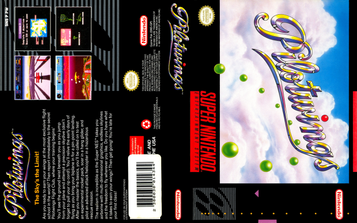 Pilotwings (SNES) - Full Cover