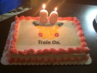 Pokemon Cake with candles