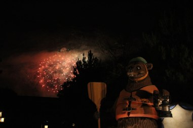Obvious Bear with Fireworks