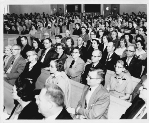Deaf people attending Hampton Place Baptist Church in 1962
