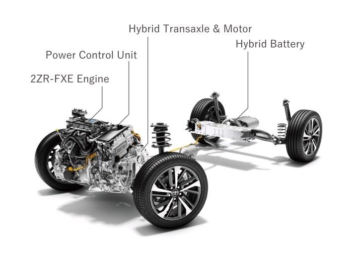 Toyota Corolla Cross 2022 Japón: motor