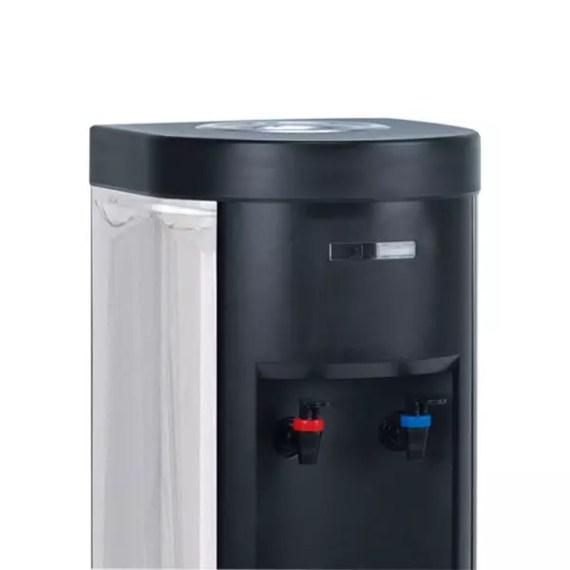 Plano detalle de lo surtidores de agua fría y caliente de la fuente de agua sin botella INOX F3