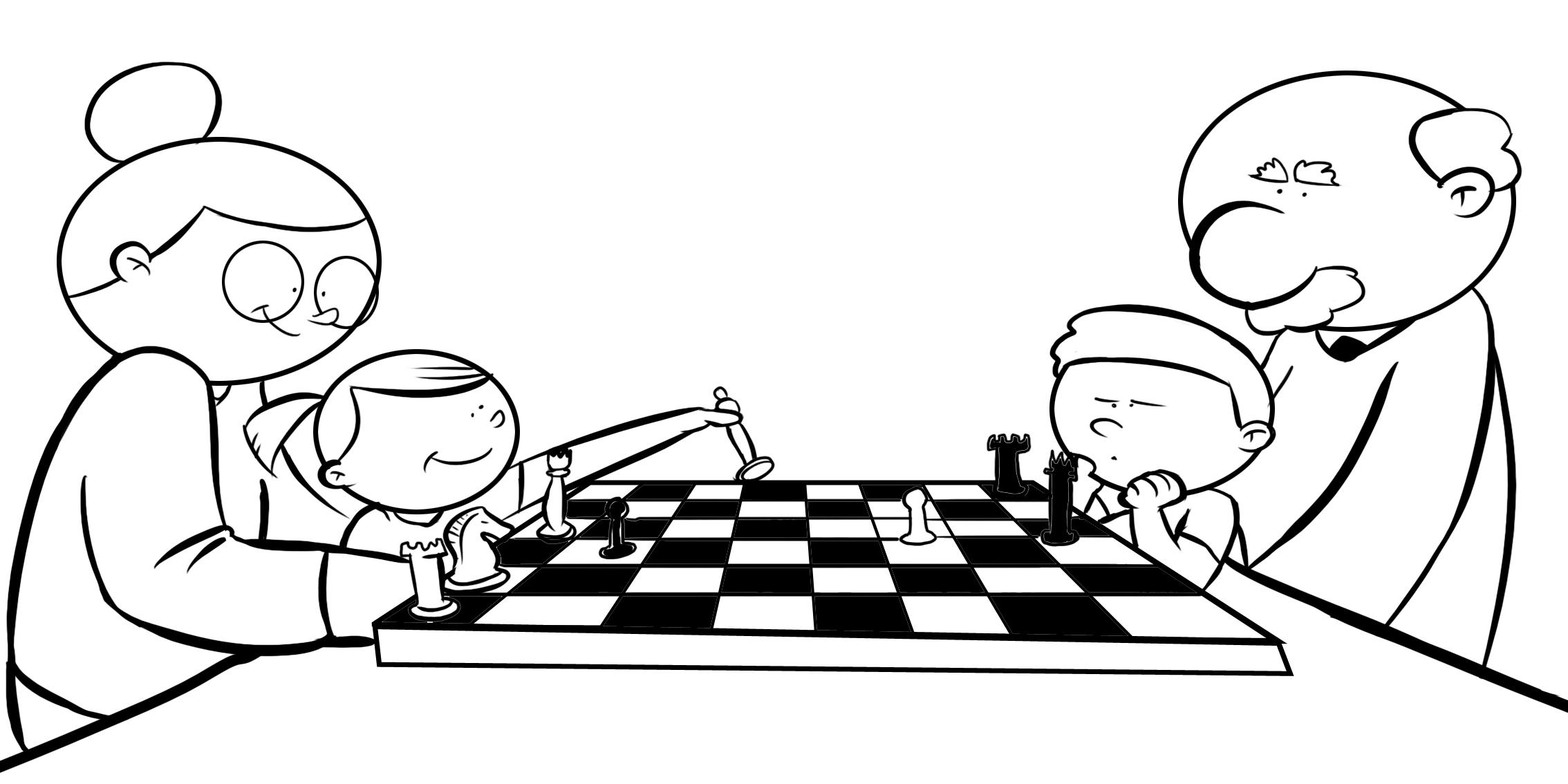 Dibujos De Ninos Juegos De Mesa Para Ninos Para Colorear