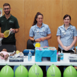 nurses giving a talk at careers day