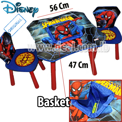 spiderman table and chairs tall camping chair igrab me 80pcent off marvel the amazing spider man 2 furniture set pay 35 instead of 180 everyday deals
