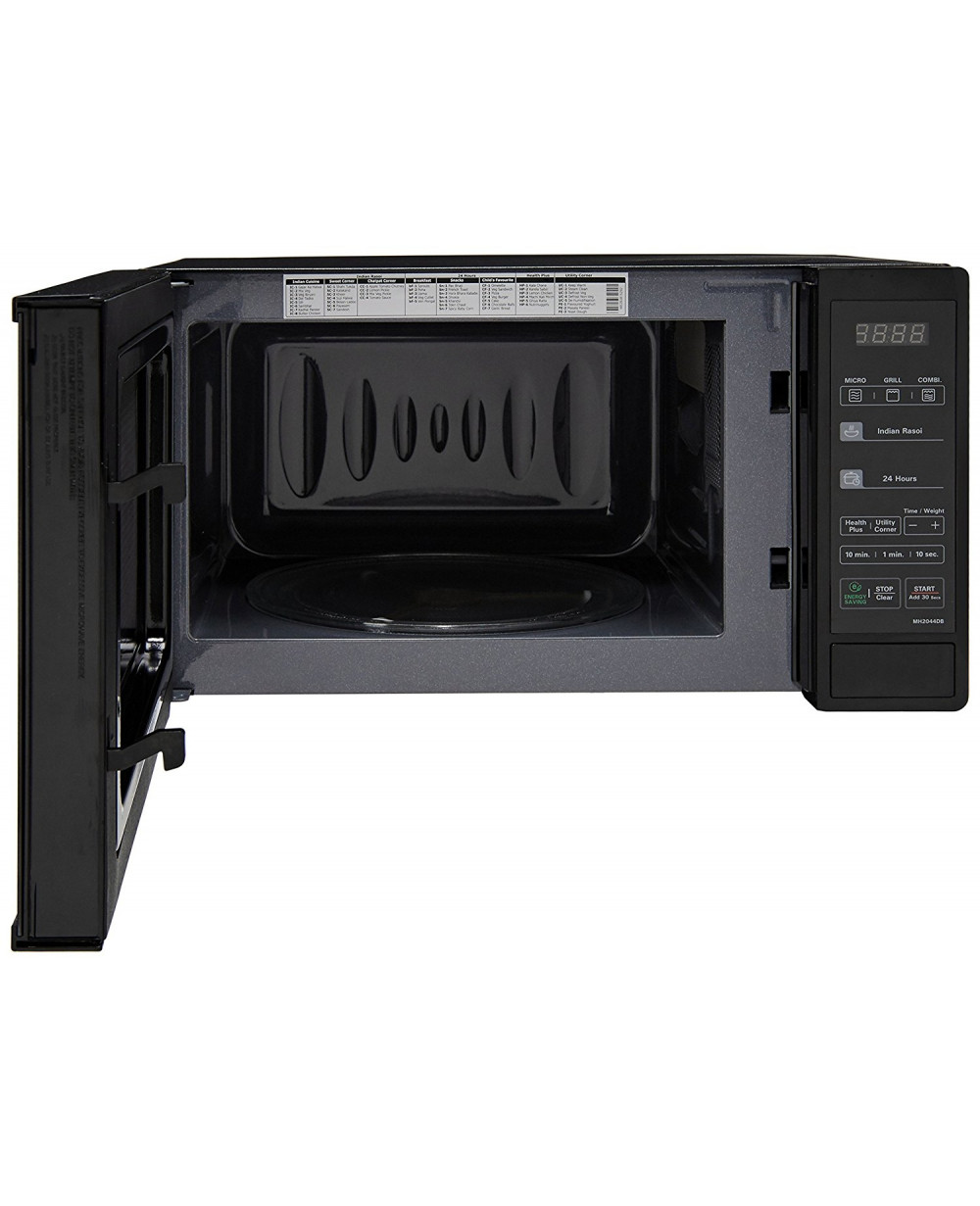 lg 20l grill microwave oven mh2044db black