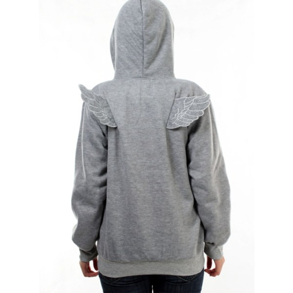 Stylish Hoodie With Angel Wings