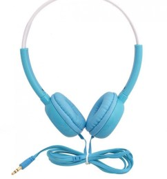 inext in 913 hp wired headphones blue colour  [ 813 x 1000 Pixel ]