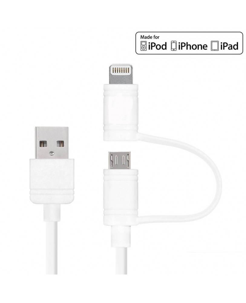 UBON 2 in 1 Data Sync & Charge Lightning cable (OG-107) at