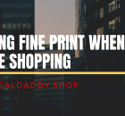 Reading Fine Print When Online Shopping