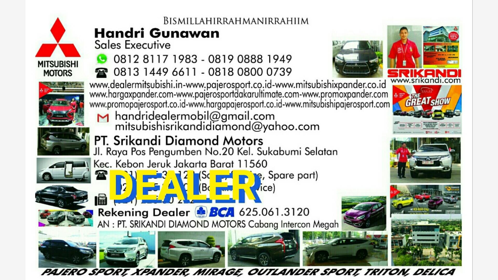 HANDRI GUNAWAN Marketing Mitsubishi 081281171983 WA