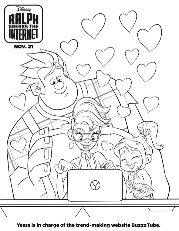 FREE Wreck it Ralph Coloring Pages & Games (Ralph Breaks
