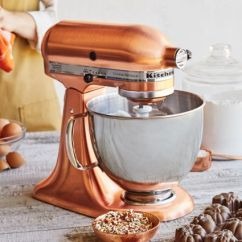 Copper Kitchen Aid Low Flow Faucet Kitchenaid Satin 5 Quart Custom Metallic Tilt Head Stand Mixer