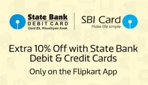 SBI Card 10 off flipkart app