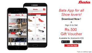 bata app get Rs 500 off on Rs 501 voucher