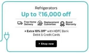 flipkart home electronics sale refrigerators