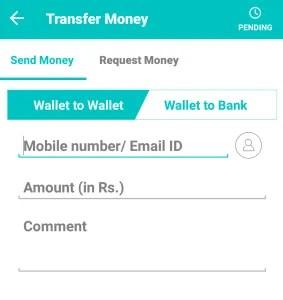 mobikwik tranfer wallet balance