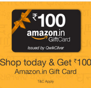amazon Rs 100 voucher free