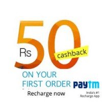 Paytm- Get Rs 50 cashback on recharge/bill payment of Rs 50 or more (New Users)