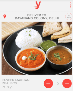 yumist get a food meal at Rs 29