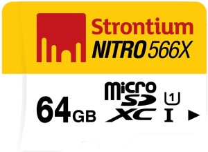 Amazon- Buy Strontium Nitro 64GB 85MB/s UHS-1 Class 10 microsdhc Memory card at just Rs.999 only