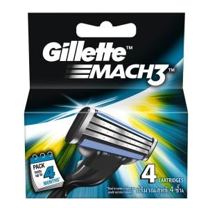 Amazon Gillette Mach3 Blades - 4 Cartridges