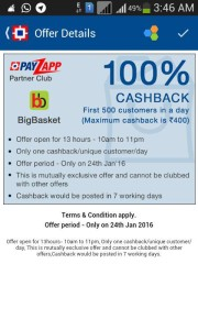 BIGBASKET PAYZPP OFFER