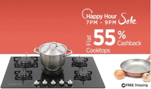 (Steal deals added) Paytm Happy Hour Sale- Buy Gas Cooktops at flat 55% cashback